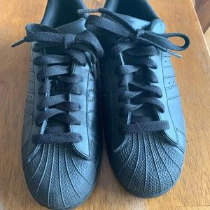 Mens Adidas Superstar Shoes All Black